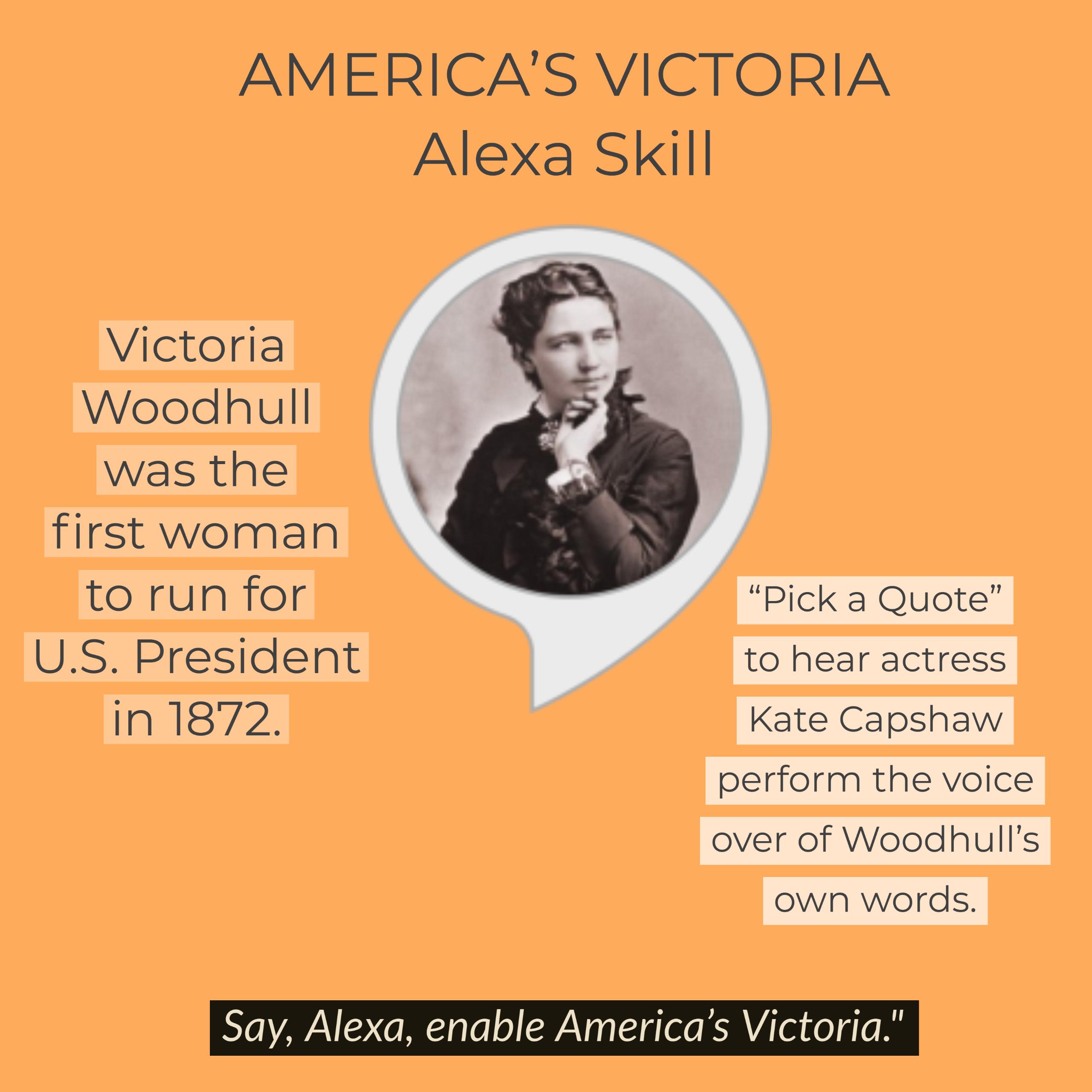 Victoria Woodhull Alexa Skill